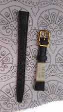 BRACELET  DE MONTRE watch band  /// cuir  NOIR   12mm    /// HD33