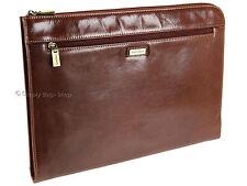 Visconti Leather Under-arm Meeting Folio A4 Document Holder File Folder Case Dark Tan