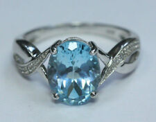 Topaz Birthday Solitaire Sterling Silver Fine Rings