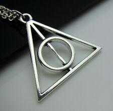 Free Tibetan Silver Harry Potter Deathly Hallows Lucky Pendant Charm Necklace