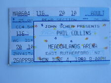Phil Collins 1990 ticket stub Meadowlands Arena