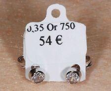 Boucles d'Oreilles en Or 750 / 18 Ct et Zircons