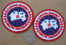 """two (2) Canada Goose program embroidered Arctic Sew on Patch Lot 2.5""""  badge new"""