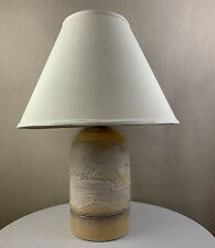 Large Vintage Mid Century Modern Brutalist Textured 1985 Casual Lamps