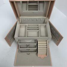 Vlando Jewelry Box Organizer Gift Case Pink Faux Leather