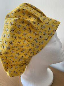 New Sparkly Busy Bees  Bouffant Style  Scrub Cap Hat