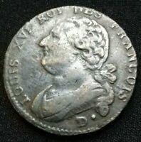 Louis XVI . 12 Deniers 17(92) D. Dijon