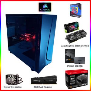 ROG Strix 2080 Ti OC 11GB, Intel Core i9 9900KF, 32GB RAM, 1TB SSD, 750W Gaming