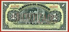 BANCO DE HIDALGO 1914 SERIES A 1 PESO REMAINDER (PICK#S304b) CH CU