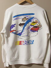 Vintage NASCAR Looney Tunes White sz L Made in USA Sweatshirt Crewneck Racing