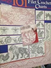 101 Filet Crochet Charts Book ASN-Animals/Butterflies/Flowers/ABC/Religious/Frui