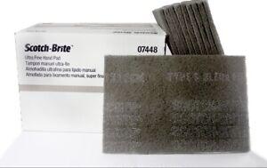 3M 7448 Scotch Brite Ultra Fine Hand Sand Scuffing Grey (10 pads)