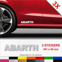 Sticker ABARTH Bas de Caisse Autocollants Adhésifs 3 stickers Fiat Voiture