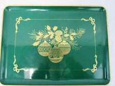 Vintage Otagiri Christmas Holiday Ornament Rectangle Green Serving Tray