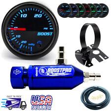 Manual Boost Controller KIT BLUE MBC 0-30PSI Turbo - 7 Color Boost Gauge & Mount