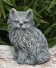 Steinfigur Katze Mieze Tierfigur Gartenfigur Dekofigur Steinguss frostfest
