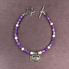 Crab Totem Bracelet Silver Purple Seashells Marine Ocean Sea Animal Magick Star