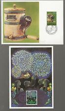2 Liechtenstein First Day Cover Postal Cards 1980/1