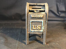 Old Vtg Collectible Hubley? Cast Iron U.S. Mail Bank Box With Flip Lid