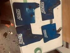 2001 to 2005 subaru impreza WRX STI blue mudflap set