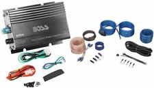 Boss CE102 100 Watt 2-Channel Mini Car Amplifier + Amp Wire Kit