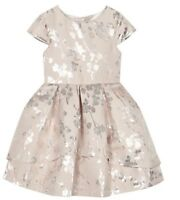Ted Baker - 'Girls' foil-effect blossom print dress RRP £75 BNWT 5-6