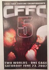 Kimbo Slice vs. Ray Mercer CFFC 5 Cage Fury Program 6/23/07 Taj Mahal NJ