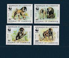 Cameroun   faune protègé  singe  le babouin  WWF   de 1988   num: 822/25  **