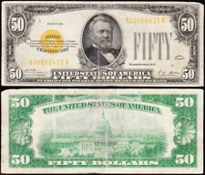 Affordable RARE 1928 $50 GOLD CERTIFICATE! FREE SHIPPING! A00586431A