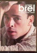 "JACQUES BREL "" QUAND ON N'A QUE L'AMOUR ""  Coffret 2 CD 37 chansons+ 1 DVD"
