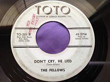 Hear Rare Early Garage 45 : The Fellows ~ Little Tin God ~ Toto TO-201