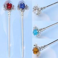 Wedding Bridal Chinese Hair Stick Petunia Flower Chignon Hairpin Chopsticks