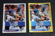 Lot (2) 1995 Score MLB RAUL MONDESI #567 GOLD RUSH & Base Hitters Inc Dodgers