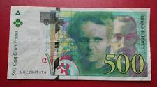 500 Francs Pierre Et Marie Curie 1994