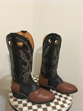 BM MILLER BROWN WESTERN BUCKAROO HIGH BOOTS 8 D