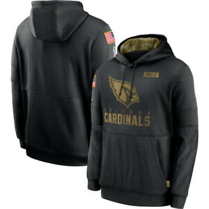Men's Arizona cardinals Hoodie 2020 Salute to Service Sideline Therma Pullover