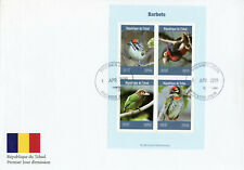 Chad 2019 FDC Barbets Barbet 4v M/S Cover Birds Stamps