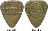 Herco HE210 Flex 50 Nylon Flat Picks, Gold, Medium, 100/Bag