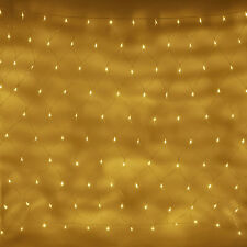 140 Warm White LED Connectable 2m x 1.5m Indoor Outdoor Net Light Clear Cable