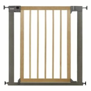 Lindam Baby Infant Safety Stair Wall Metal Gate Sure Shut Deco Natural Wood