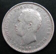 PORTUGAL , 500 REIS DE 1887 . PLATA