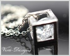 Geometric Cube With  Crystal Inside
