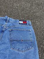 Vintage 90s Mens Tommy Hilfiger Flag Denim Jeans Size 36