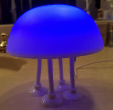 NEW Jelly Fish Mood Lamp Night Light Blue White Flexible Leg Plug In Suction Cup