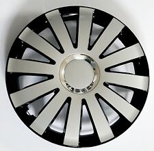 """SET OF 4 16"""" WHEEL TRIMS,RIMS TO FIT FORD FIESTA, FOCUS, FUSION + FREE GIFT #D"""