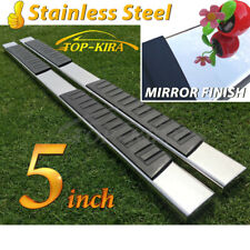 """Fit 07-18 SILVERADO SIERRA DOUBLE/EXTENDED CAB 5"""" Nerf Bar Running Board  Step"""