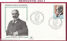 ITALIA FDC FILAGRANO EMILIO DIENA 1989 ANNULLO ROMA FILATELICO U585