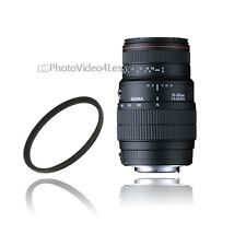 Sigma 70-300mm F4-5.6 APO DG Macro Autofocus Lens  for Nikon + UV filter