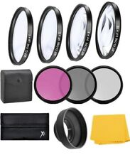 55mm Macro Closeup & Filter Kit For Sony Alpha a6300 a6400 a6500 w/18-135mm Lens