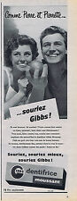 PUBLICITE ADVERTISING 084 1956 GIBBS dentifrice moussant